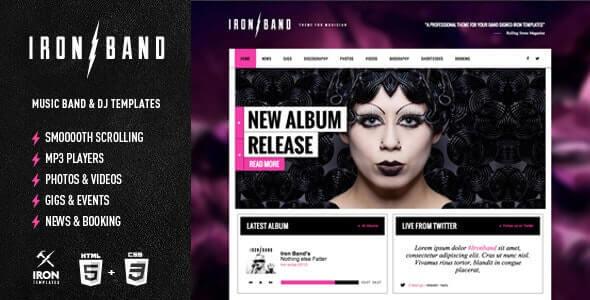 IronBand Music HTML Template
