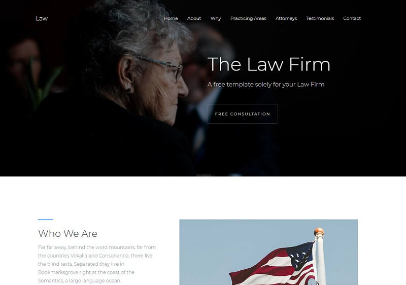Law HTML Website Template