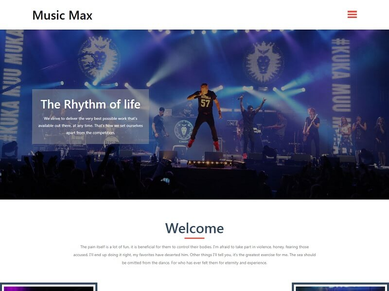 Music Max Free HTML Website Template