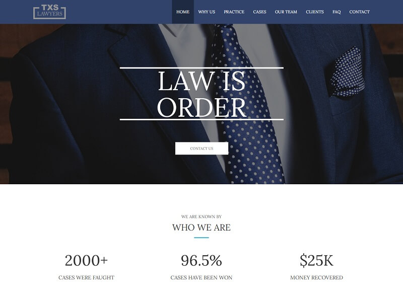 Texas Lawyer HTML Website Template