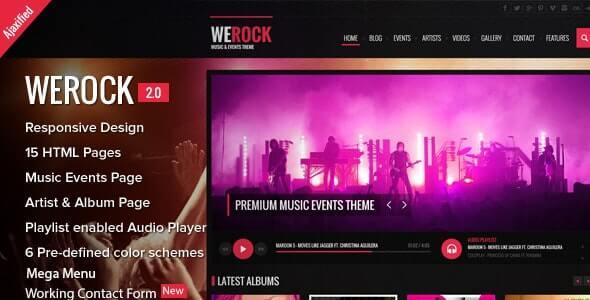 WeRock Music HTML Template